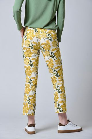yellow flowered trousers Angelico