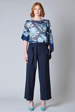 Pantalone blu ampio con fusciacca Angelico