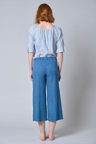 jeans cropped vita elastica Angelico