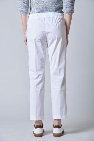 pantalone bianco popeline vita elastica Angelico