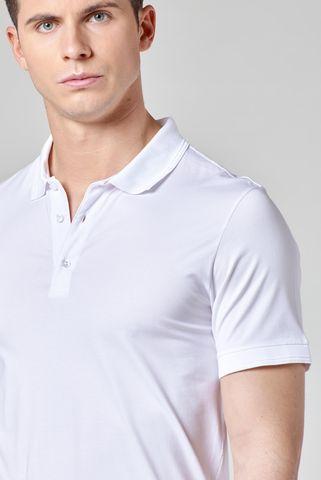 polo bianca jersey filo scozia Angelico