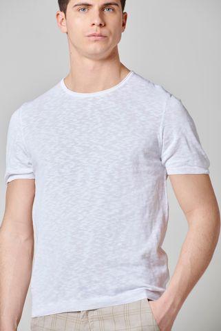 t-shirt bianca maglina cotone fiammato Angelico
