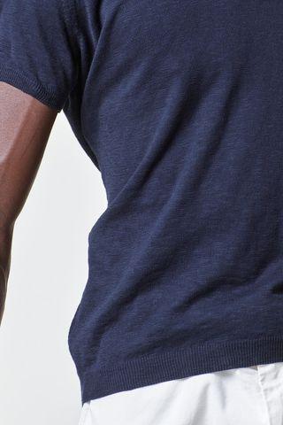 navy t-shirt jersey slub cotton tricot Angelico