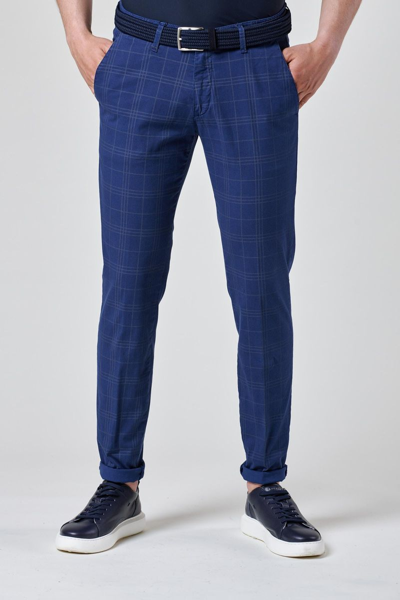 pantalone blu chiaro galles tc slim Angelico