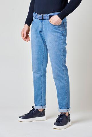 jeans 5-pocket light blue slim Angelico