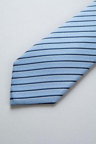azure tie blue-silver stripes tie Angelico