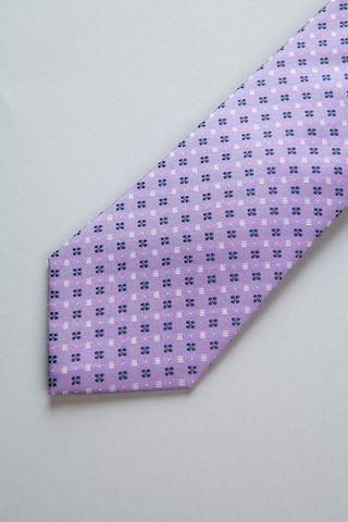 cravatta lilla fiori blu seta Angelico