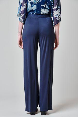 wide navy elegant pants Angelico