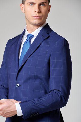 abito blu chiaro finestrato slim Angelico