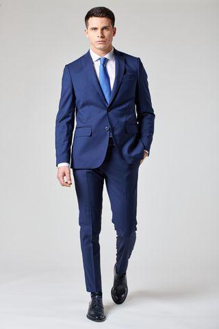 Abito blu medio unito tessuto Cerruti Slim Angelico