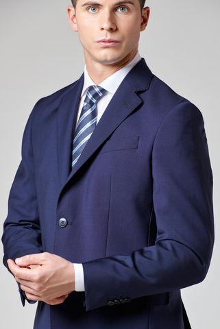 abito blu unito tela merino Angelico