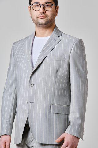 abito grigio gessato arancio comodo tessuto barberis Angelico