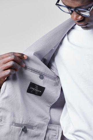 abito grigio chiaro stretch sfoderato slim Angelico