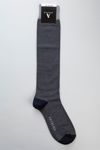 blue jeans jacquard socks stretch cotton Angelico