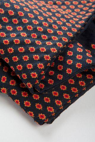 calza blu disegno rosso cravatta cotone stretch Angelico