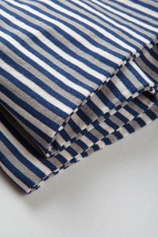 calza blu-grigia rigata fine cotone stretch Angelico