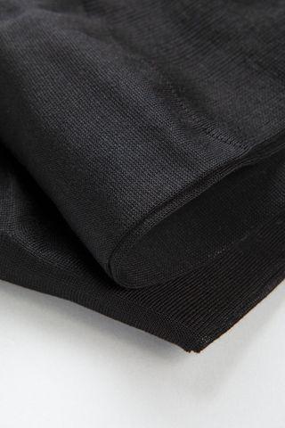 calza nera unita cotone filo scozia Angelico