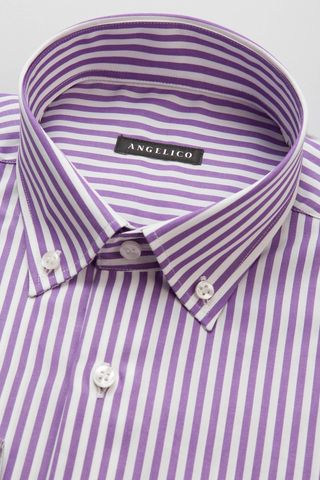 camicia glicine riga larga bd Angelico