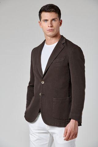 giacca testa moro cotone t.c. armatura slim Angelico