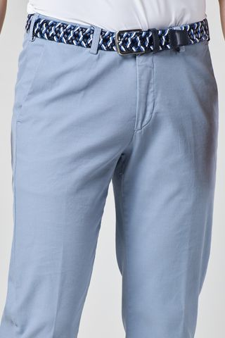 azure trousers fine structured stretch cotton Angelico