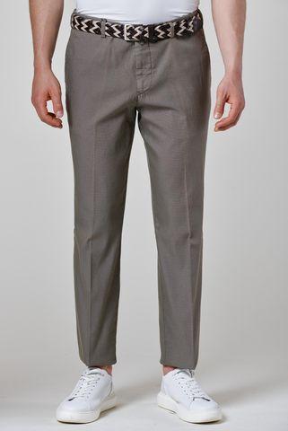pantalone tortora cotone armatura fine Angelico