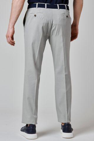 pantalone grigio perla cotone armatura fine Angelico
