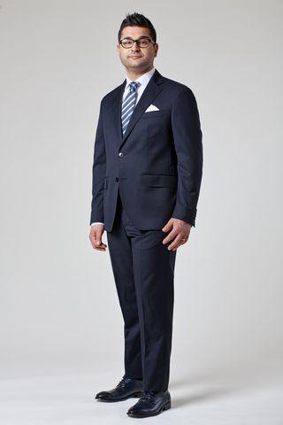 abito blu 140s comodo Angelico