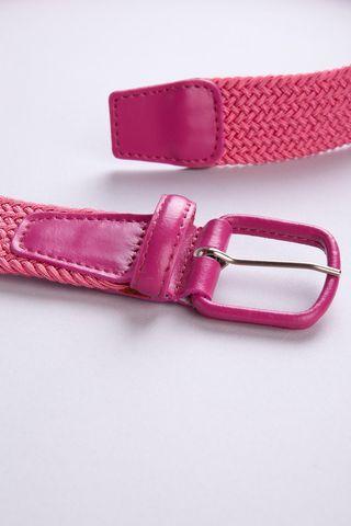 pink braided elastic belt Angelico