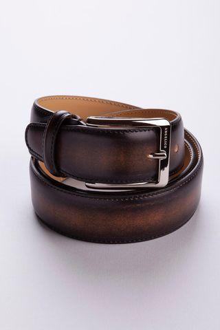 Cintura marrone pelle sfumata Angelico