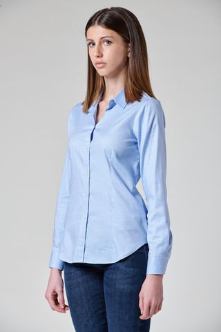 Oxford azure shirt long sleeves Angelico