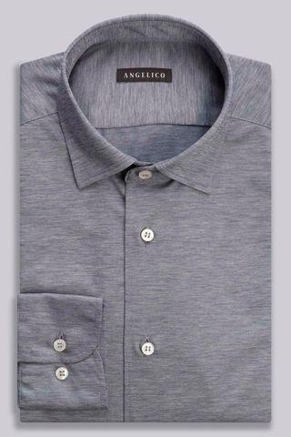 camicia grigia jersey oxford ml Angelico