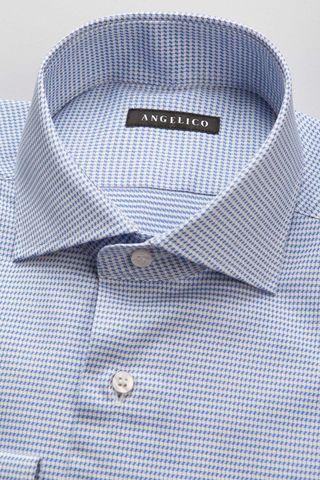 camicia bluette greche slim Angelico