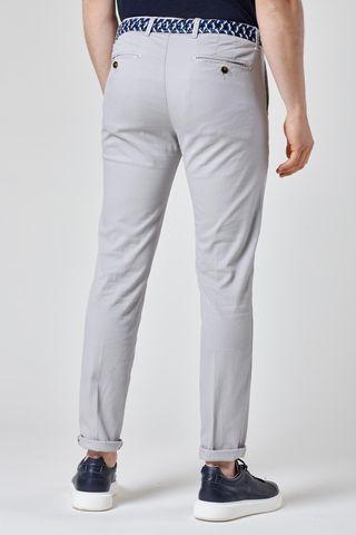 pantalone grigio chiaro stretch armatura slim Angelico