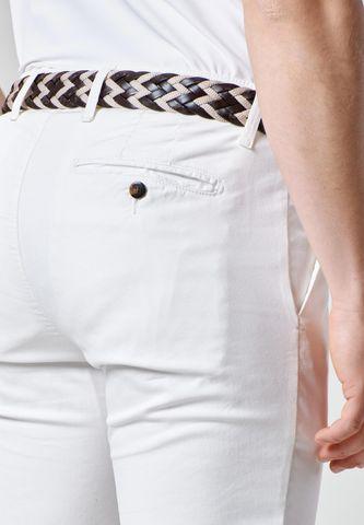 pantalone panna stretch armatura slim Angelico