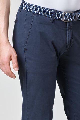 pantalone blu scuro stretch armatura slim Angelico