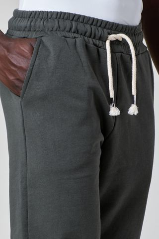 pantalone felpa verdone fondo chiuso elastico Angelico