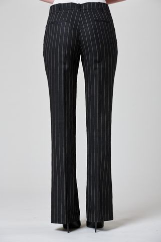 black pinstripe paw trousers Angelico