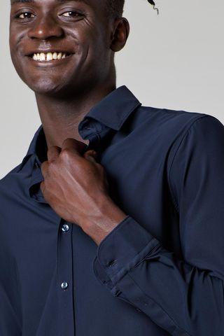 camicia blu sensitive dynamic slim Angelico