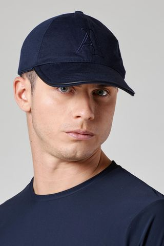 cappellino blu jersey stretch Angelico