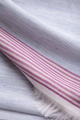 light blue linen-silk scarf with pink stripes Angelico
