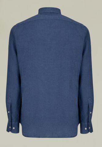 camicia blu lino tinto capo Angelico