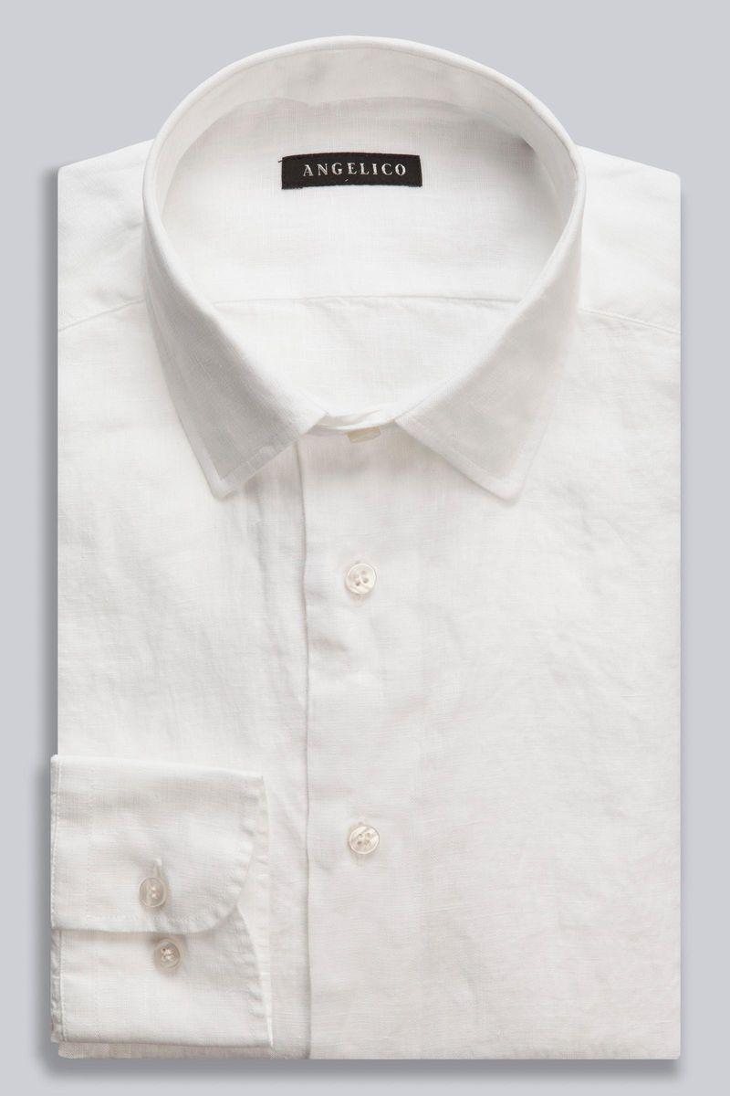 camicia bianca lino tinto capo Angelico
