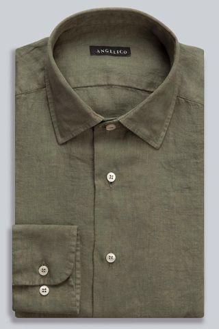 camicia militare lino tinto capo Angelico