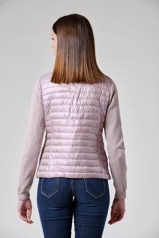 pink eco-down jacket knitted sleeves Angelico