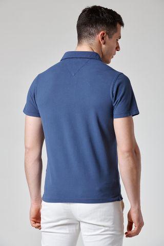polo blu jeans piquet tinto capo Angelico