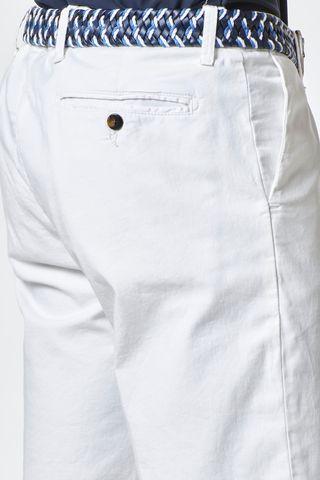 bermuda bianco cotone elasticizzato Angelico