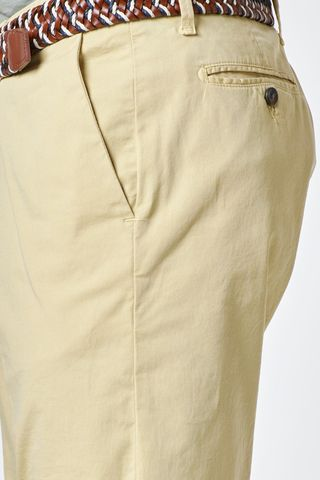 bermuda giallo cotone elasticizzato Angelico