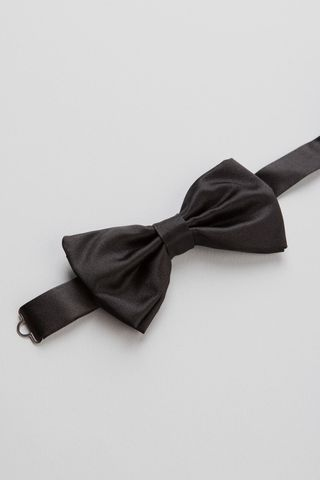 black silk bow tie Angelico