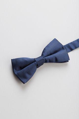 blue silk bow tie Angelico