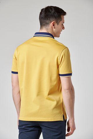 polo gialla colletto blu fessino ricamato Angelico